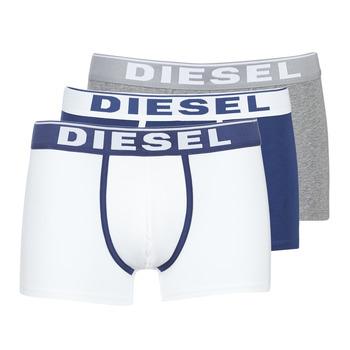 Spodní prádlo  Muži Boxerky Diesel DAMIEN Bílá / Tmavě modrá / Šedá
