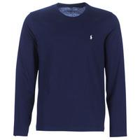Textil Muži Trička s dlouhými rukávy Polo Ralph Lauren L/S CREW-CREW-SLEEP TOP Tmavě modrá