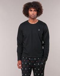 Textil Muži Trička s dlouhými rukávy Polo Ralph Lauren L/S CREW-CREW-SLEEP TOP Černá