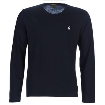 Textil Muži Trička s dlouhými rukávy Ralph Lauren L/S CREW-CREW-SLEEP TOP Černá