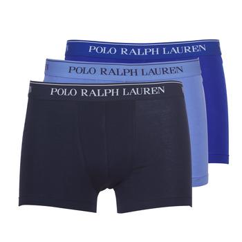 Spodní prádlo  Muži Boxerky Polo Ralph Lauren CLASSIC-3 PACK-TRUNK Modrá