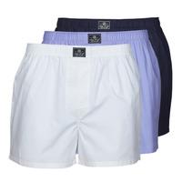 Spodní prádlo  Muži Trenýrky Polo Ralph Lauren OPEN BOXER-3 PACK-BOXER Bílá / Modrá / Tmavě modrá