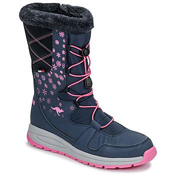 Boty Ženy Zimní boty Kangaroos K-GLAZE RTX Tmavě modrá / Růžová