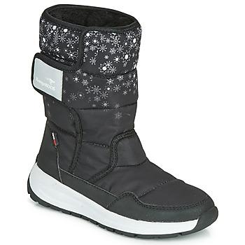 Boty Dívčí Zimní boty Kangaroos K-FLUFF RTX Černá / Šedá