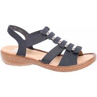 Boty Ženy Sandály Rieker Dámské sandály  62850-14 blau Modrá