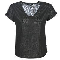 Textil Ženy Trička s krátkým rukávem Le Temps des Cerises OKINAWA Černá