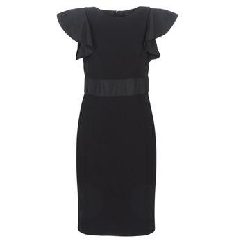 Textil Ženy Krátké šaty Lauren Ralph Lauren JERSEY SLEEVELESS COCKTAIL DRESS Černá