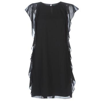 Textil Ženy Krátké šaty Lauren Ralph Lauren RUFFLED GEORGETTE DRESS Černá