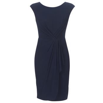 Textil Ženy Krátké šaty Lauren Ralph Lauren RUCHED CAP SLEEVE DRESS Tmavě modrá