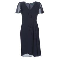 Textil Ženy Společenské šaty Lauren Ralph Lauren CUTLER CAP SLEEVE DAY DRESS Tmavě modrá