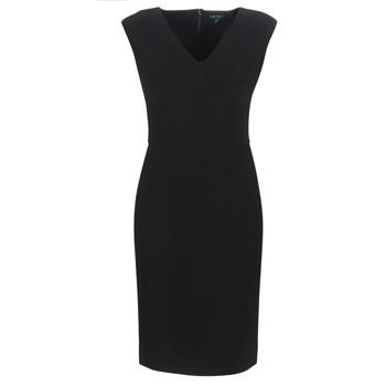 Textil Ženy Společenské šaty Lauren Ralph Lauren BLACK CAP SLEEVE DAY DRESS Černá