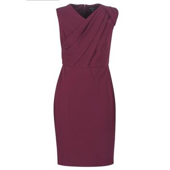 Textil Ženy Společenské šaty Lauren Ralph Lauren RUBY SLEEVELESS DAY DRESS Bordó