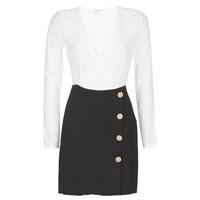 Textil Ženy Krátké šaty Moony Mood LUCE Černá / Bílá