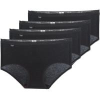 Spodní prádlo  Ženy Kalhotky Sloggi BASIC+ X 4 Černá