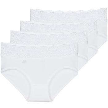 Spodní prádlo  Ženy Kalhotky Sloggi ROMANCE X 4 Bílá
