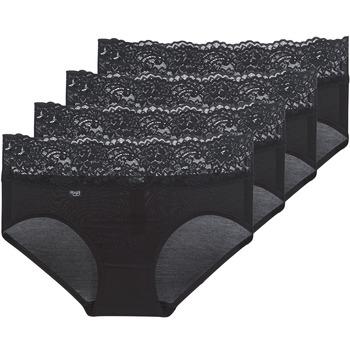 Spodní prádlo  Ženy Kalhotky Sloggi ROMANCE X 4 Černá