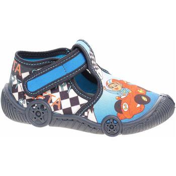 Boty Chlapecké Bačkůrky pro miminka Rejnok Dovoz Chlapecké bačkory Rogallo D-137 modrá Modrá