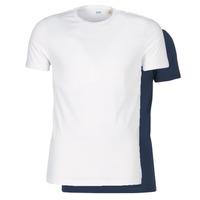 Textil Muži Trička s krátkým rukávem Levi's SLIM 2PK CREWNECK 1 Tmavě modrá / Bílá