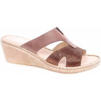 Boty Ženy Pantofle Rejnok Dovoz Dámské pantofle Safe Step 68724 brown shiny-brown Hnědá