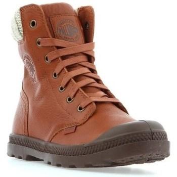 Boty Ženy Kotníkové boty Palladium Manufacture Pampa HI Knit LP Hnědé