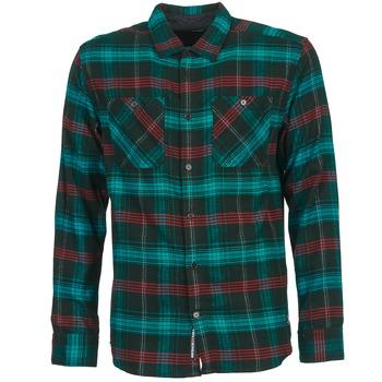 Textil Muži Košile s dlouhymi rukávy DC Shoes VIBRATION Černá / Modrá / Červená