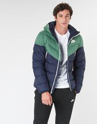 Textil Muži Prošívané bundy Nike M NSW DWN FILL WR JKT HD Tmavě modrá / Zelená