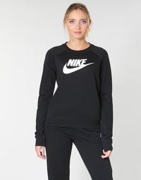 Textil Ženy Mikiny Nike W NSW ESSNTL CREW FLC HBR Černá