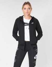 Textil Ženy Mikiny Nike W NSW ESSNTL HOODIE FZ FLC Černá