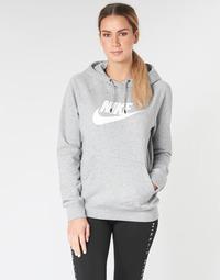 Textil Ženy Mikiny Nike W NSW ESSNTL HOODIE PO  HBR Šedá