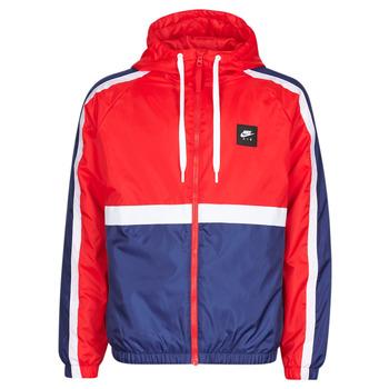 Textil Muži Teplákové bundy Nike M NSW NIKE AIR JKT SSNL WVN Červená / Tmavě modrá
