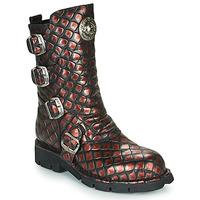 Boty Ženy Kotníkové boty New Rock  Černá / Červená
