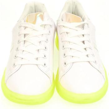 Boty Ženy Nízké tenisky John-C Dámske bielo-zelené tenisky NEON biela