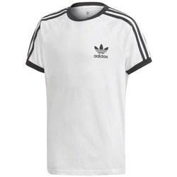 Textil Děti Trička s krátkým rukávem adidas Originals 3STRIPES Legend Bílé, Černé