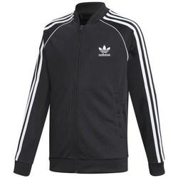 Textil Děti Teplákové bundy adidas Originals Superstar Top Černé
