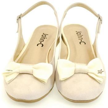 Boty Ženy Sandály John-C Dámske krémové sandále SIARA krémová