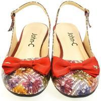 Boty Ženy Sandály John-C Dámske farebné sandále SIARA červená