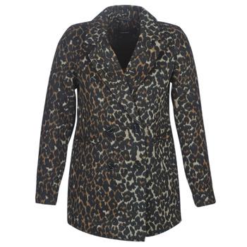 Textil Ženy Kabáty Vero Moda VMCOCOLEOPARD Hnědá