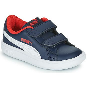 Boty Chlapecké Nízké tenisky Puma SMASH Tmavě modrá