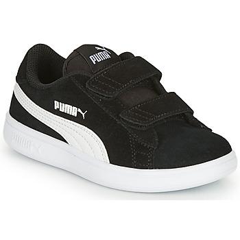 Boty Děti Nízké tenisky Puma SMASH Černá