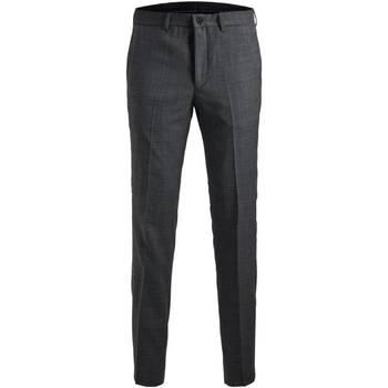 Textil Muži Oblekové kalhoty Jack & Jones 12141112 JPRSOLARIS TROUSER NOOS DARK GREY Gris