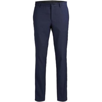 Textil Muži Oblekové kalhoty Jack & Jones 12141112 JPRSOLARIS TROUSER NOOS DARK NAVY Azul marino