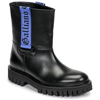 Boty Muži Kotníkové boty John Galliano 8560 Černá / Modrá