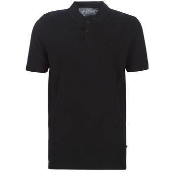 Textil Muži Polo s krátkými rukávy Jack & Jones JJEBASIC Černá