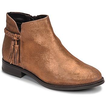 Boty Ženy Kotníkové boty André MILOU Zlatá