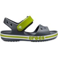 Boty Děti Sandály Crocs™ Crocs™ Bayaband Sandal Kid's Charcoal