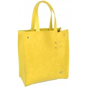Taška Ženy Velké kabelky / Nákupní tašky Grosso Žlutá moderní obdélníková  dámská kabelka S753 Žlutá