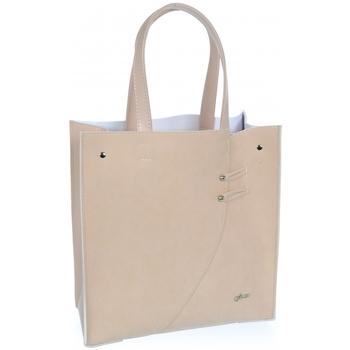 Taška Ženy Velké kabelky / Nákupní tašky Grosso Růžová moderní obdélníková  dámská kabelka S753 růžová