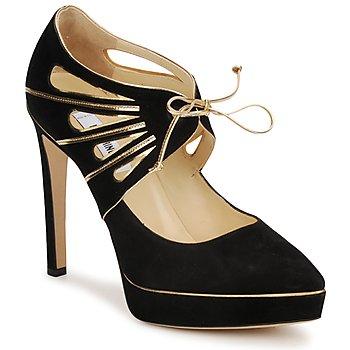 Boty Ženy Lodičky Moschino MA1004 Černá-zlatá
