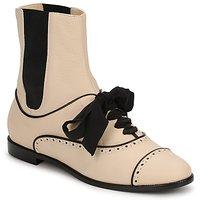 Boty Ženy Kotníkové boty Moschino MA2103 Béžová