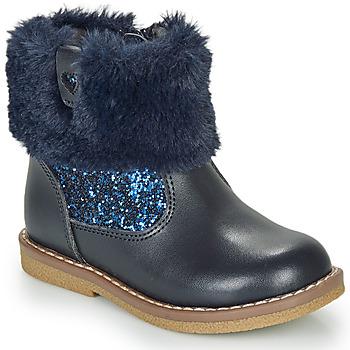 Boty Dívčí Kotníkové boty André ADELA Tmavě modrá